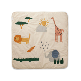 Liewood Glenn Activity Blanket Speelkleed - Safari Mix