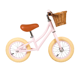 Banwood First Go Girl Balance Loopfiets - Roze