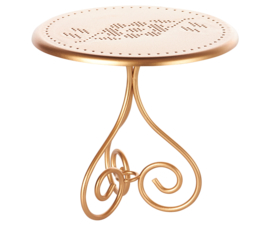 Maileg Tafel Poppenhuis Coffee Table - Gold Vintage