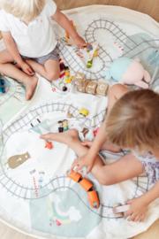 Play and Go Speelgoedkleed en opbergzak - Train (dubbelzijdig!)
