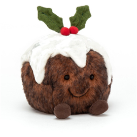 Jellycat Kerst Collectie Christmas Pudding - Knuffel Kerstpudding (14 cm)