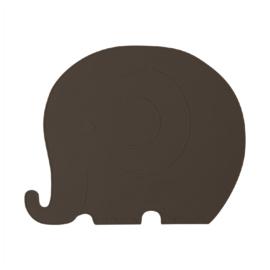 OYOY Placemat Henry Elephant Olifant - Choko