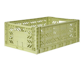 AyKasa Folding Crate Maxi Box - Lime Cream