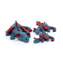 Jellycat Dexter Dragon Medium - Knuffel Draak (50 cm)