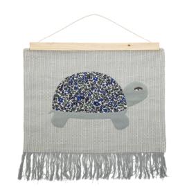 Bloomingville Wandkleed Wall Hanger Turtle - Schildpad