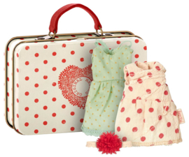 Maileg Mouse, Suitcase with 2 sets of clothes