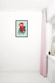 Kek Amsterdam Poster A2 - Fiep Westendorp Op de Fiets (groen) (PS-006)