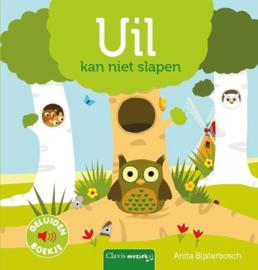 Uitgeverij Clavis Geluidenboekje - Uil kan niet Slapen +2jr