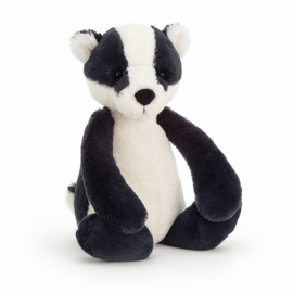 Jellycat Bashful Badger Medium - Knuffel Das (31 cm)