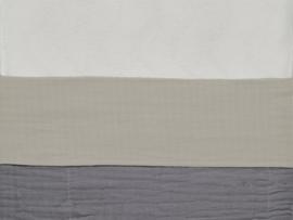 Jollein Ledikant Laken Wrinkled Katoen - Nougat (120 x 150 cm)