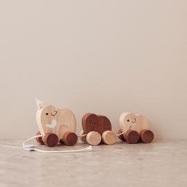 Kids Concept Houten Trekdiertjes Neo Familie - Mammoet
