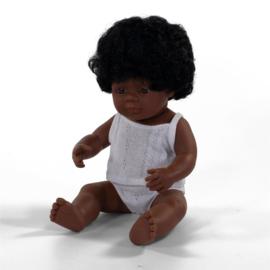 Miniland Pop Afro Amerikaans - Girl (38 cm)