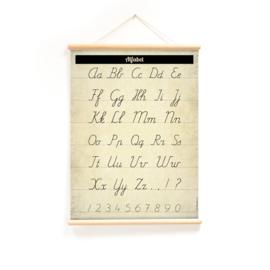 Schoolplaat - Alfabet  (dubbelzijdig)
