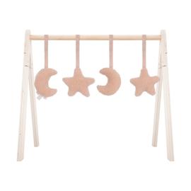 Jollein Babygym Speeltjes Moon - Pale Pink (set van 4)