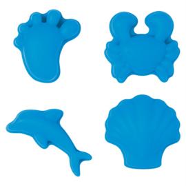 Scrunch Moulds Zandvormpjes - Licht Blauw