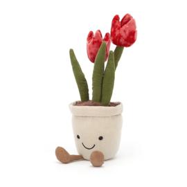 Jellycat Amuseable Flower Tulip - Knuffel Tulp
