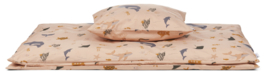 Liewood Ingeborg Junior Bedding Ledikant Dekbedovertrek - Sea Creature Rose Mix