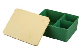 Blafre Lunchtrommel Vis - Donker Groen/Beige