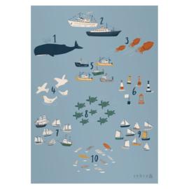Sebra Poster Numbers - Seven Seas