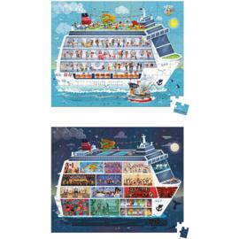 Janod Puzzel - Het Cruiseschip (2 in 1)  (vanaf 6 jaar)