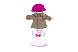 Miniland Poppen Kleding Set Roze 3-delig - Meisjes (32 cm)