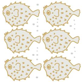 Bibelotte Muurstickers Vissen - Kogelvissen