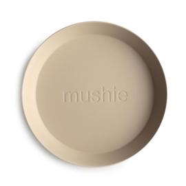 Mushie Bord Rond (set van 2) - Vanilla