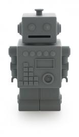 KG Design Spaarpot Robot - Donker grijs