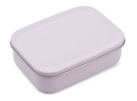 Liewood Lunchtrommel RVS Jimmy Lunchbox - Cat Light Lavender (Extra groot)