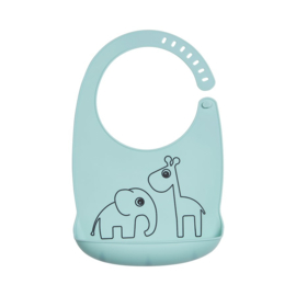 Done by Deer Siliconen Bib Slabbetje Deer Friends - Blauw
