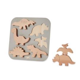 By Astrup Educatieve Houten Puzzel - Dinosaurussen