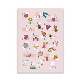 Maan Amsterdam Poster Alfabet - Roze