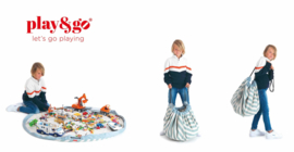 Play and Go Speelgoedkleed en opbergzak - Strepen Groen