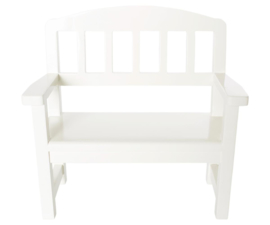 Maileg Houten Bank Wooden Bench - Off White