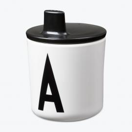 Design Letters Tuit voor op melamine Beker - Zwart