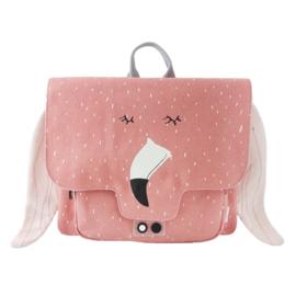 Trixie Rugzak Schooltas Satchel Mrs Flamingo - Roze