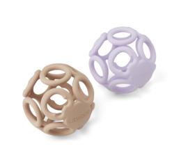 Liewood Teether Ball Jasmin - Light Lavender / Rose Mix (set 2 stuks)