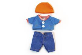 Miniland Poppen Kleding Set Blauw 3-delig - Jongen (21 cm)