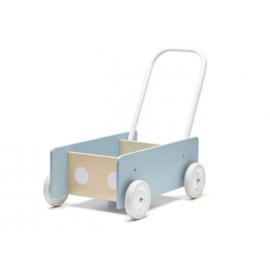 Kids Concept Houten Loopwagen - Blauw