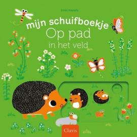 Uitgeverij Clavis Schuifboekje - Op pad in het veld +1jr