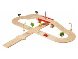 Plantoys Houten Wegen - Road System Deluxe