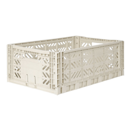 AyKasa Folding Crate Maxi Box - Light Grey