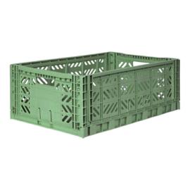 AyKasa Folding Crate Maxi Box - Almond Green