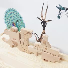 Petit Collage Houten Puzzel en Speelfiguren - Safari