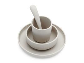 Jollein Kinderservies Siliconen Diner Set - Nougat