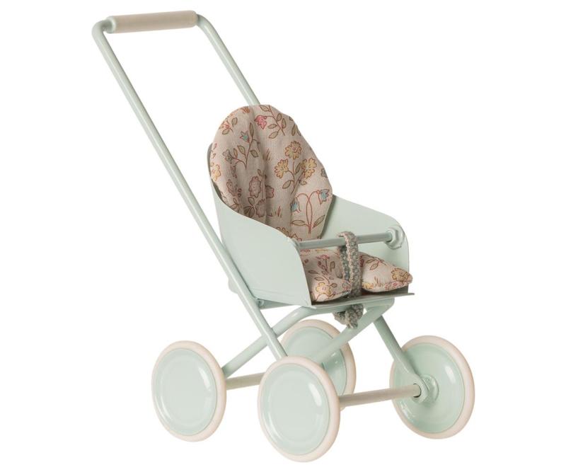 Maileg Buggy Stroller Micro - Sky Blue