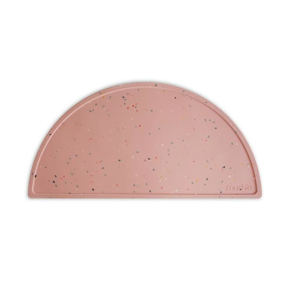 Mushie Placemat Silicone Place Mat - Confetti Pink Powder