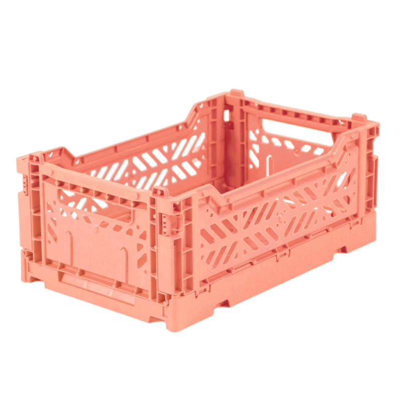 AyKasa Folding Crate Mini Box - Salmon