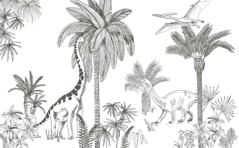 Lilipinso Dinosaurus Behang - Jurassic Period (400b  x 248h)