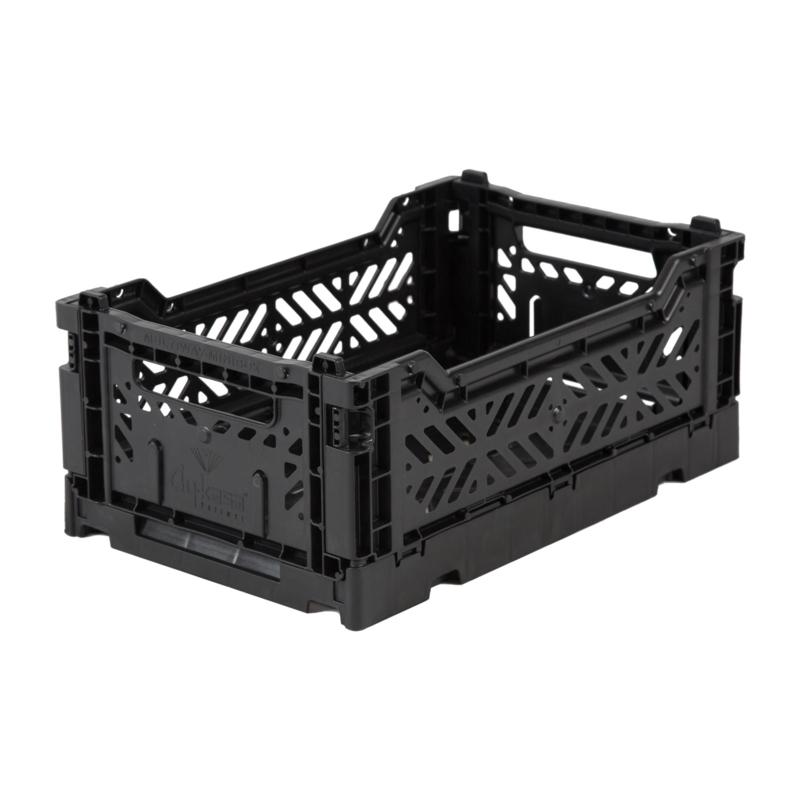 AyKasa Folding Crate Mini Box - Black